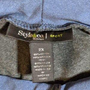 Style & Co Pants & Jumpsuits - Style & Co women sport grey sweatpants 2X